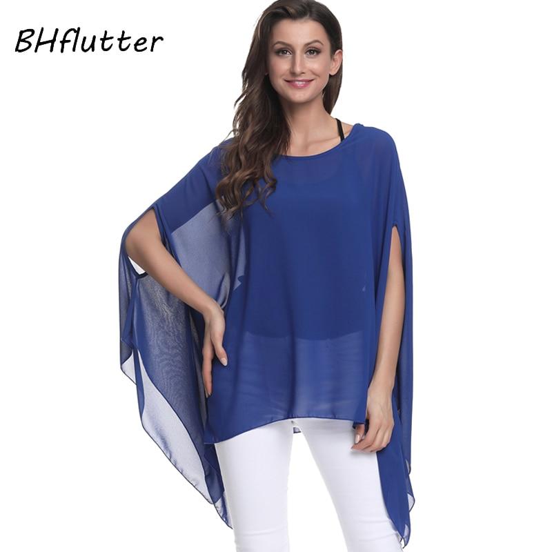 1afa50ead62 BHflutter Blusas Mujer de Moda 2018 блузка для женщин рубашка рукав