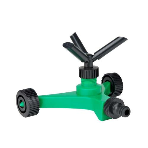 2019 New Three fork Rotary Sprinkler With Wheels Watering Tri outlet Rotating Sprinklers-in Garden Sprinklers from Home & Garden
