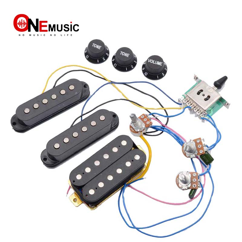 US $6.21 25% OFF|Electric Guitar Pickup Wiring Harness Prewired 5 way on