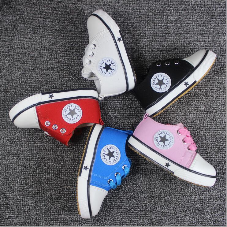 Free Shipping 2016 Hot Sale Spring Kids Shoes Fashion Boys Girls Shoes Casual Sneakers Soft Bottom Children Canvas Shoes F123