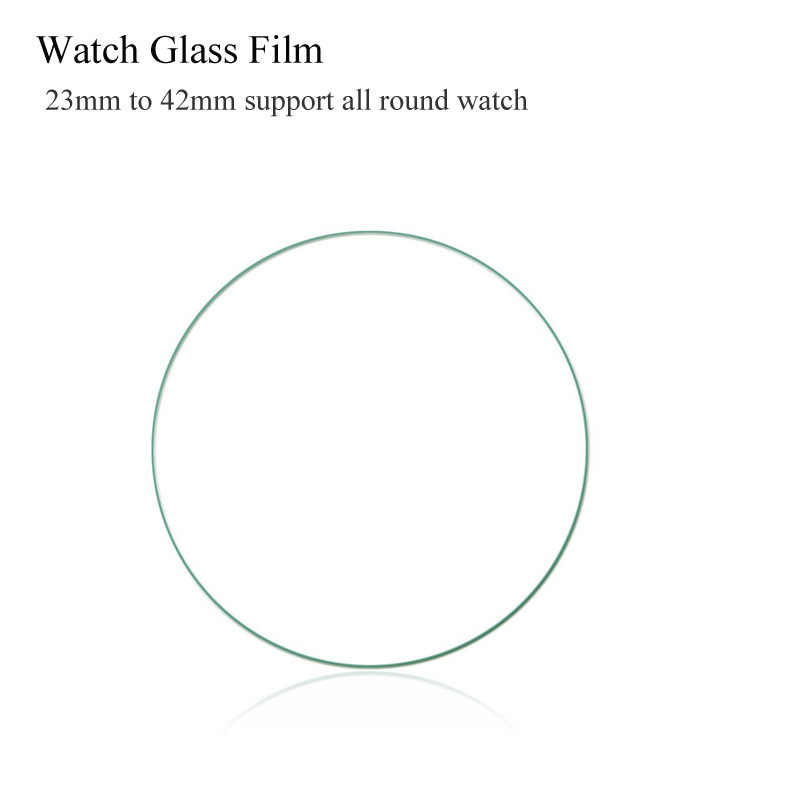 2PCS Universal Round 27mm 31 32 33 34 36 37mm 38mm 39mm 40mm 41mm 42mm For samsung S2 S3 gear Case Watch Glass Screen Protector