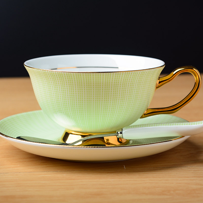 Bone China Tea Cup with Saucer and Spoon Set