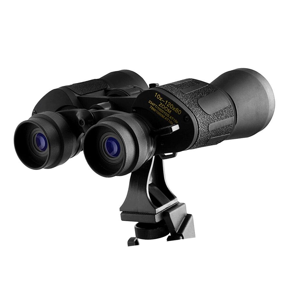 10 120X80 high magnification range zoom hunting HD telescopefor Bird watching wide angle night vision professional binoculars in Monocular Binoculars from Sports Entertainment