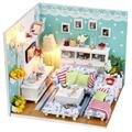 Miniatura de Móveis Casa de Bonecas artesanais Diy Casas de Boneca Em Miniatura Casa De Bonecas De Madeira de Presente de Aniversário de Brinquedos Para As Crianças Os Adultos M002