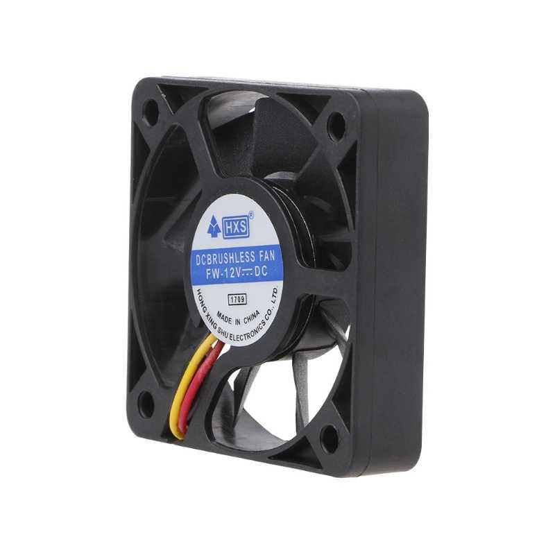Mini 50mm x 50mm x 10mm DC 12V 3Pin refroidisseur sans brosse 9-lame ventilateur ventilateur de refroidissement 5010 Mar28