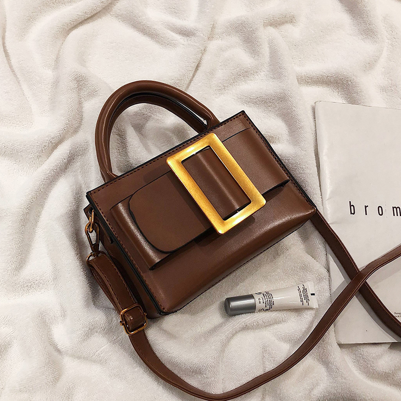 European Vintage Fashion Small Tote Bag 2019 New Quality PU Leather Women's Designer Handbag Portable Shoulder Messenger Bags
