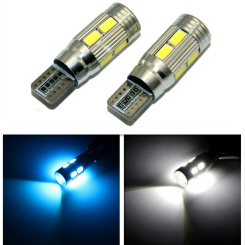 2pcs T10 LED w5w Canbus Bulb Parking Clearance Light For Nissan Qashqai Juke Almera X-trail Tiida Note Primera Pathfinder Micra