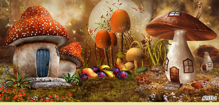 Fairy Tale Forest Background Guest Room Living Wallpaper Retro Restaurant Ktv Bar Net Cafe Escape Theme In Wallpapers From Home