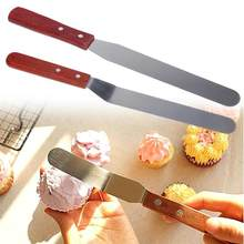 8 inch Stainless Steel Cake Spatula Butter Cream Icing Frosting Knife Baking Pastry Spatula Kitchen Cake Knife Scraper Gadget(China)