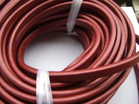 1 Yard 10x6mm Wine Red Genuine Licorice Leather Jewelry Cord For Bracelet Making