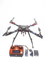 Estante plegable RC Quadcopter RTF con AT10 Full Flight Control Transmisor + QQ + Motor + ESC Propeller Cargador de Batería F11066-B
