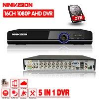 NINIVISION 16CH 1080 P HDMI H.264 Стандартный HD AHD видео Регистраторы аудио RS485 панорамная камера наблюдения с наклоном и зумом DVR 16 канальная для аналоговы