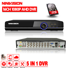 NINIVISION 16CH 1080P HDMI H.264 Standard HD AHD Video Recorder Audio RS485 PTZ CCTV DVR 16 Channel For Analog AHD IP Camera