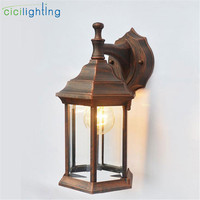 Black Bronze Vintage Outdoor Wall Lights For Porch Garden Pathway Bar exterior Wall Sconce Aluminum Industrial wall Lamp