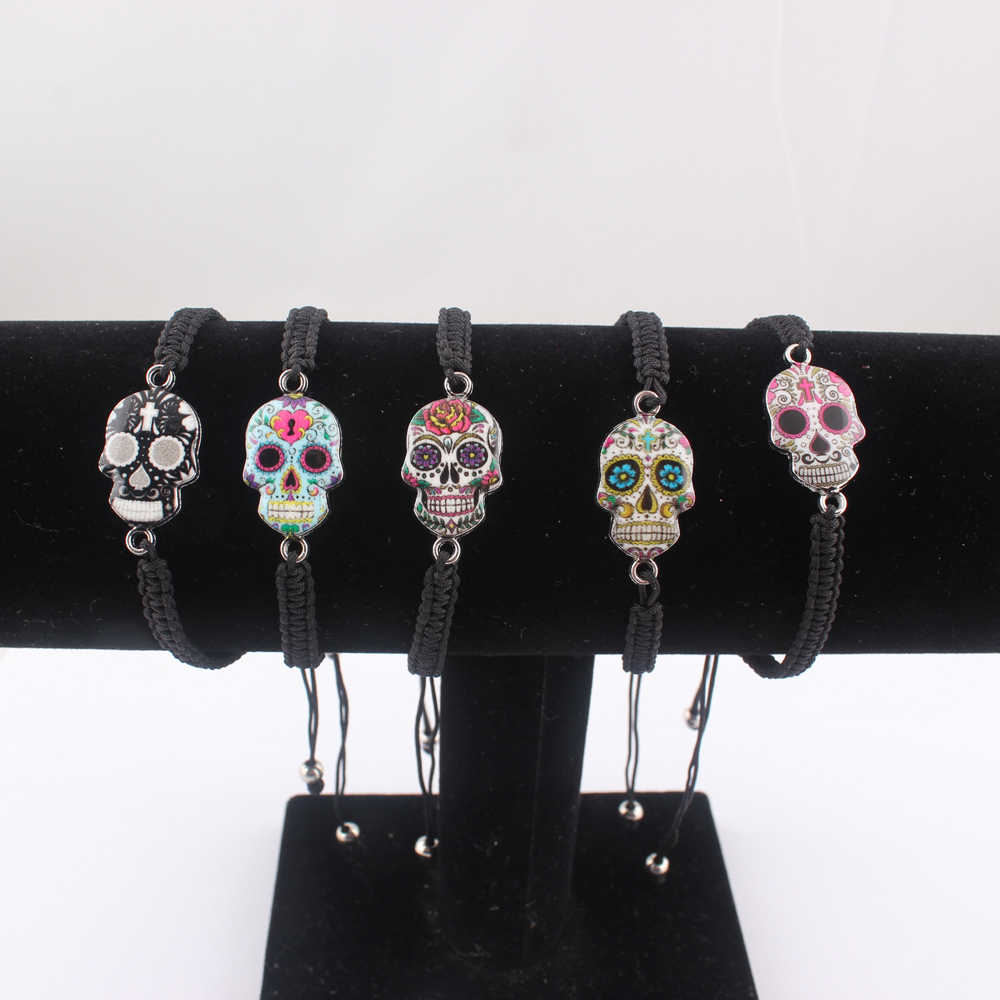 LUBINGSHINE Hot Sale Skull Charms Bracelets For Women Men Fashion Jewelry Adjustable Bracelets Wholesale Christmas Gifts