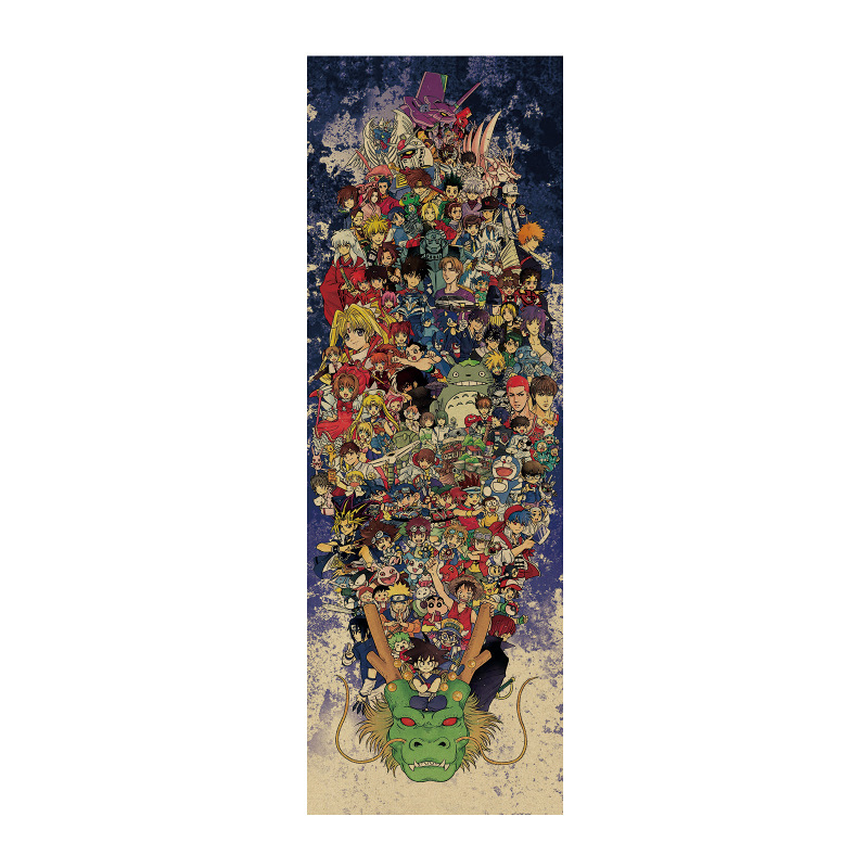 DRAGON BALL /Totoro NARUTO / comic set /kraft paper/bar poster/<font><b>Wall</b></font> <font><b>stickers</b></font> /<font><b>Retro</b></font> Poster/decorative painting 72.5x24 cm image
