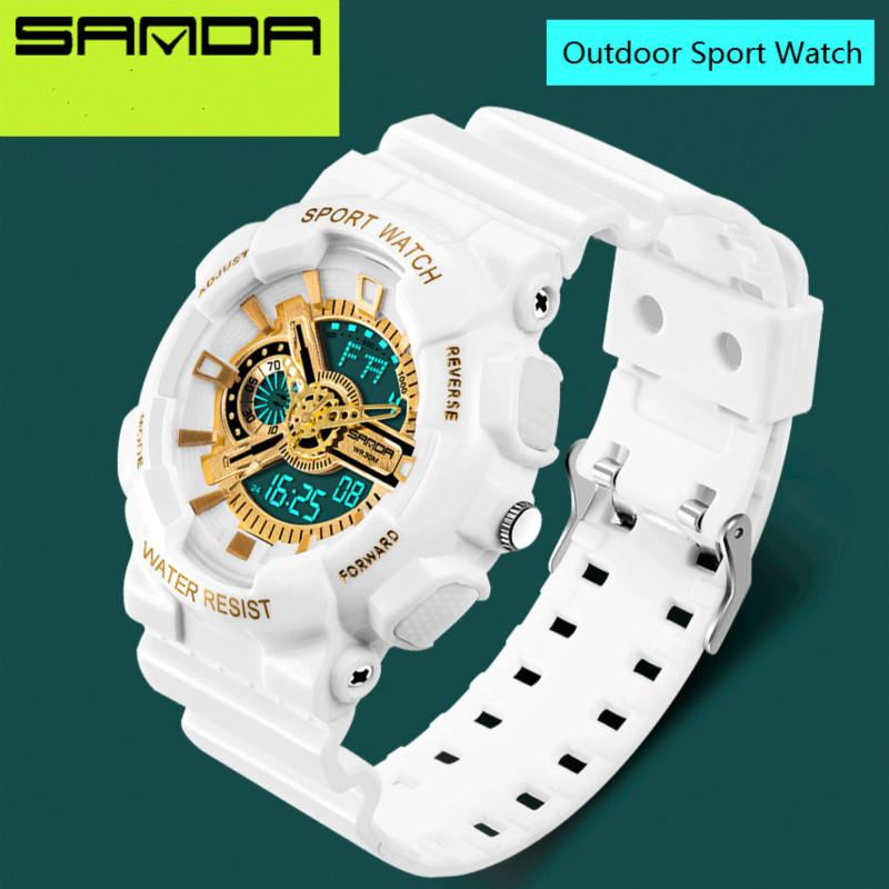 Prix pour Marque de luxe Mens Numérique-montre G Style Mode Sport Militaire Glod Choc De Montre 3ATM Étanche Numérique montres pour Hommes