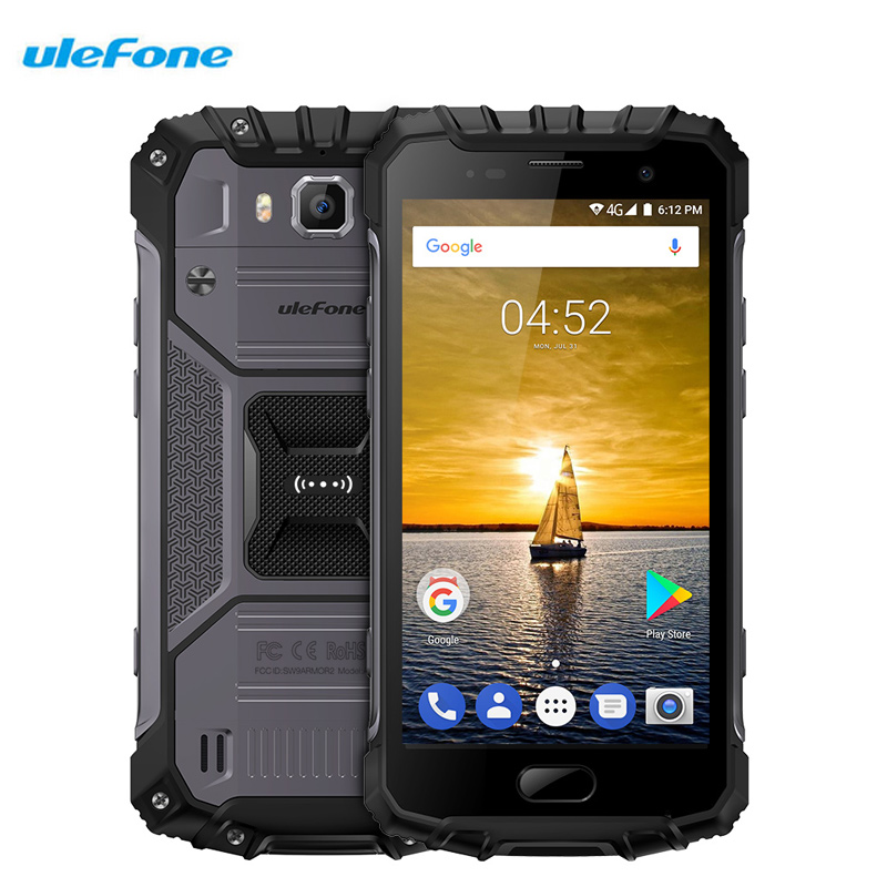Ulefone Armor 2 Waterproof IP68 Mobile Phone 5 Inch 6GB RAM 64GB Octa Core Android 7