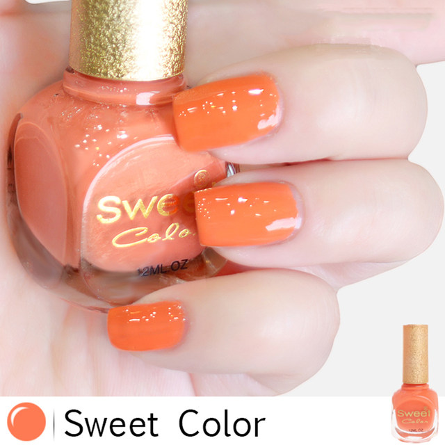 Online Shop nail polish Sweet color eco-friendly Jelly pink painting ...