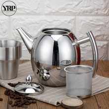 YRP 1000ML/1500ML Durable Coffee Hand Pot Kettles Sliver Water Pot Kettle With Strainer Home Kitchen Tea Tools