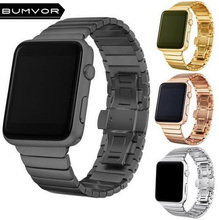 BUMVOR Stainless Steel link bracelet for iwatch band series4/3/2/1 stainless Metal strap apple watch 44/40/42/38MM watchband