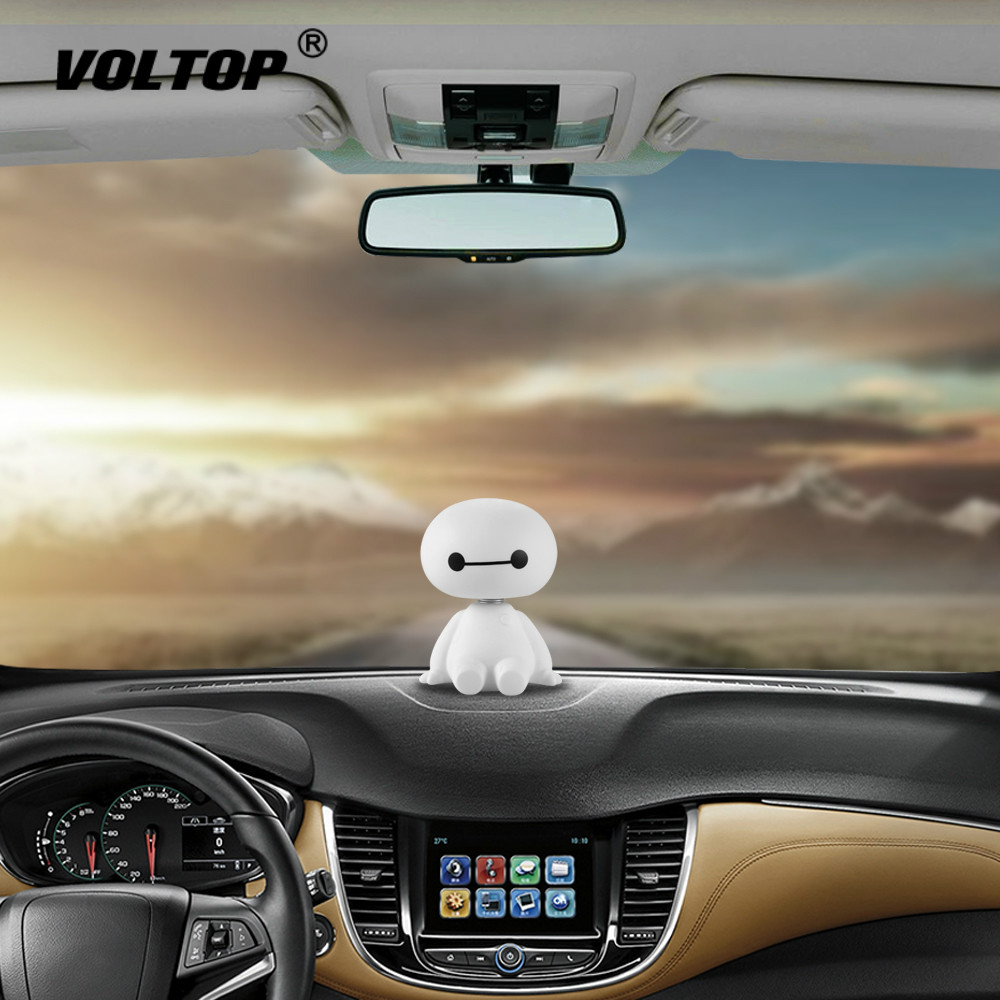 Image 2 - Cartoon Robot Shaking Head Car Interior Dashboard Decoration Ornament Accessories for Girls Hanging Pendant-in Ornaments from Automobiles & Motorcycles