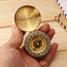 Naturehike Hot Sale Outdoor Camping Hiking Portable Pocket Brass Gold Copper Mini Compass Navigation с серебристым дисплеем