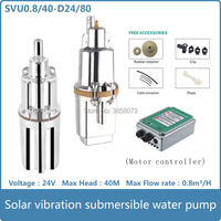 24v dc brushless solar water pumping machine for deep well submersible pump price bomba solar SVU0.8/40 D24/80