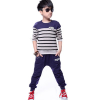 Brand Kids Clothes Set Teenage Boys Clothing Roupas De Menino Sweatshirt Pant Boy Tracksuit Children Sport