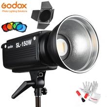 Godox SL 150W Led Video Ánh Sáng 5600 K 150 W CRI 93 + Bowens Núi w/Từ Xa Controll BD 04 Barn cửa Tổ Ong Lưới 4 Bộ Lọc Màu Sắc