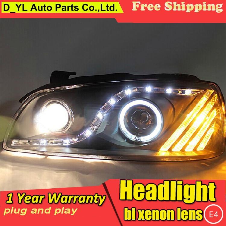 D YL Car Styling for Hyundai Elantra Headlights 2007 Elantra LED Headlight DRL Bi Xenon Lens