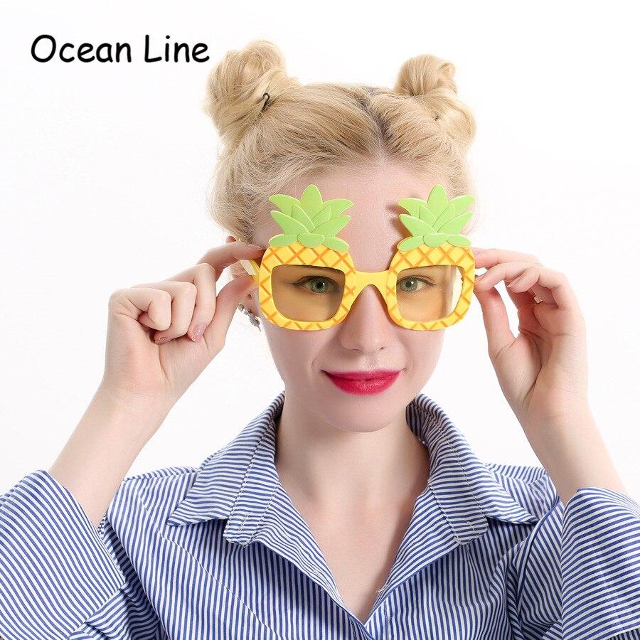 Legrační dekorativní ananas Beach Party Tropické kostýmy Sluneční brýle Glitter Beach brýle Dárek Party Party dodávky Dekorace