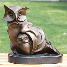 The owl and bronze sculpture like handicraft decoration art collection Home Furnishing decorative gift