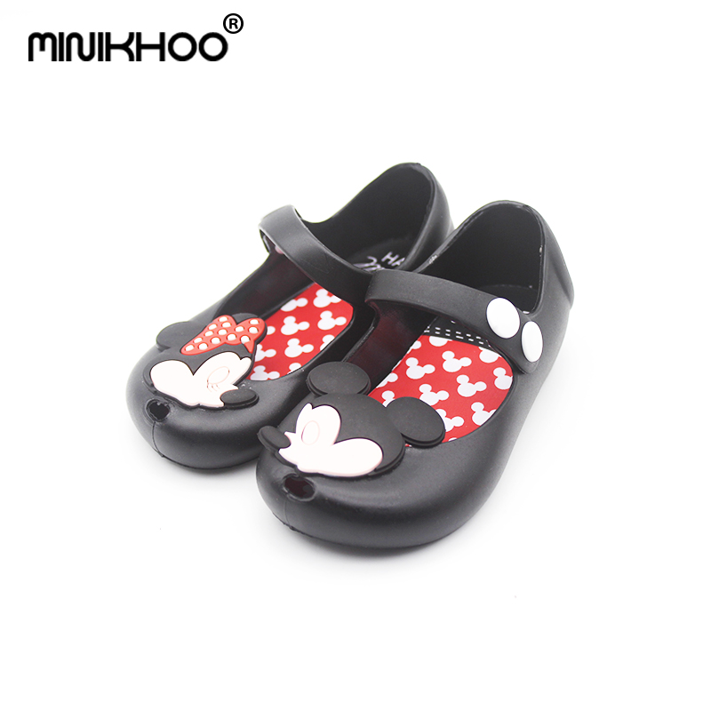 Mini Melissa 2018 Mickey & Minnie Mini Jelly Shoes Baby Boys Girls Sandals Soft Comfort Toddler Girl Sandals Beach Sandals Kids