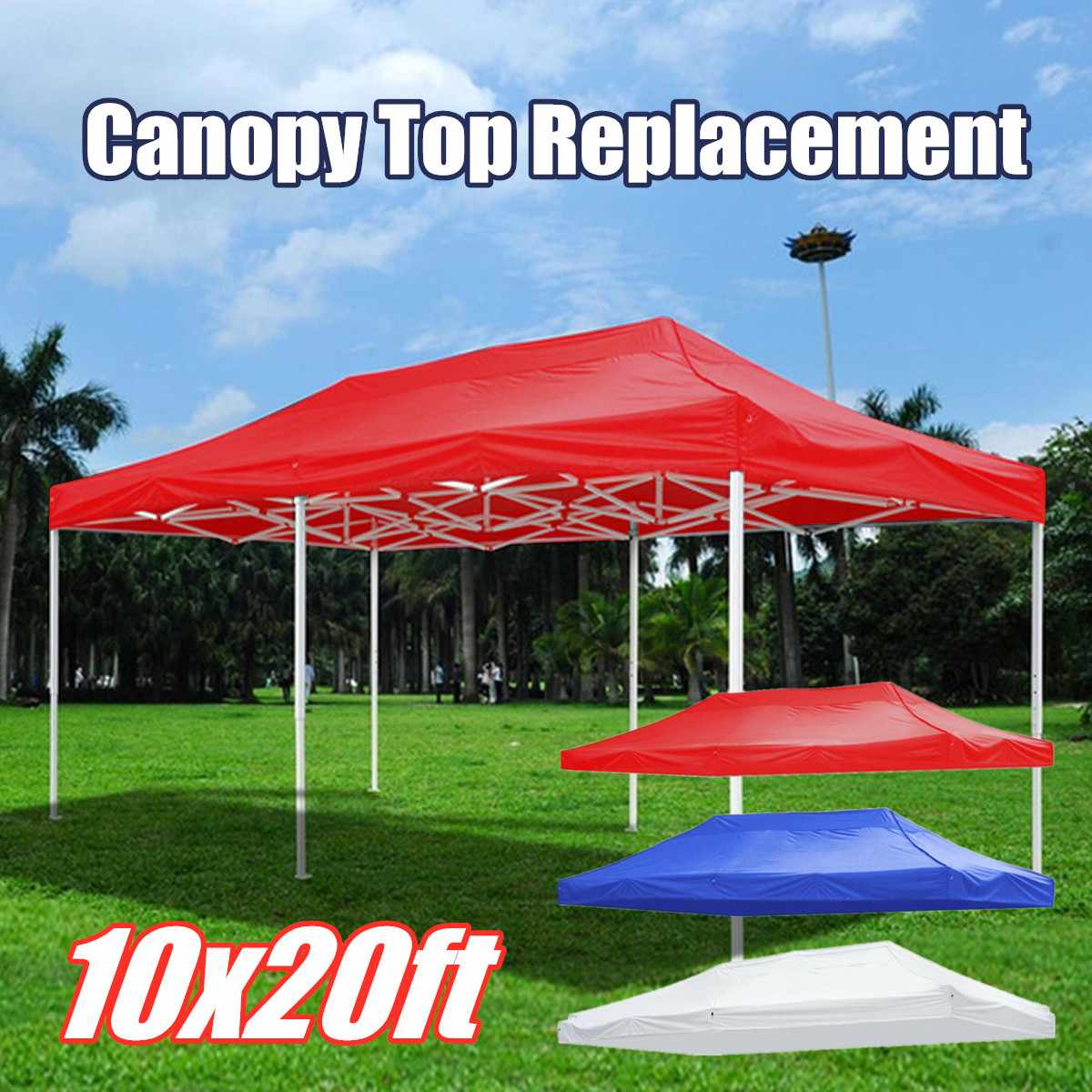 3x6m Replacement Party Tent Roof Top Cover Floding Pop-up Marquee Gazebo Canopy