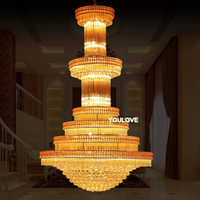 Modern Gold Crystal Chandelier Long LED Crystal Chandeliers Lighting Fixture Home Lighting Crystal Hanging Lights AC90V 260V