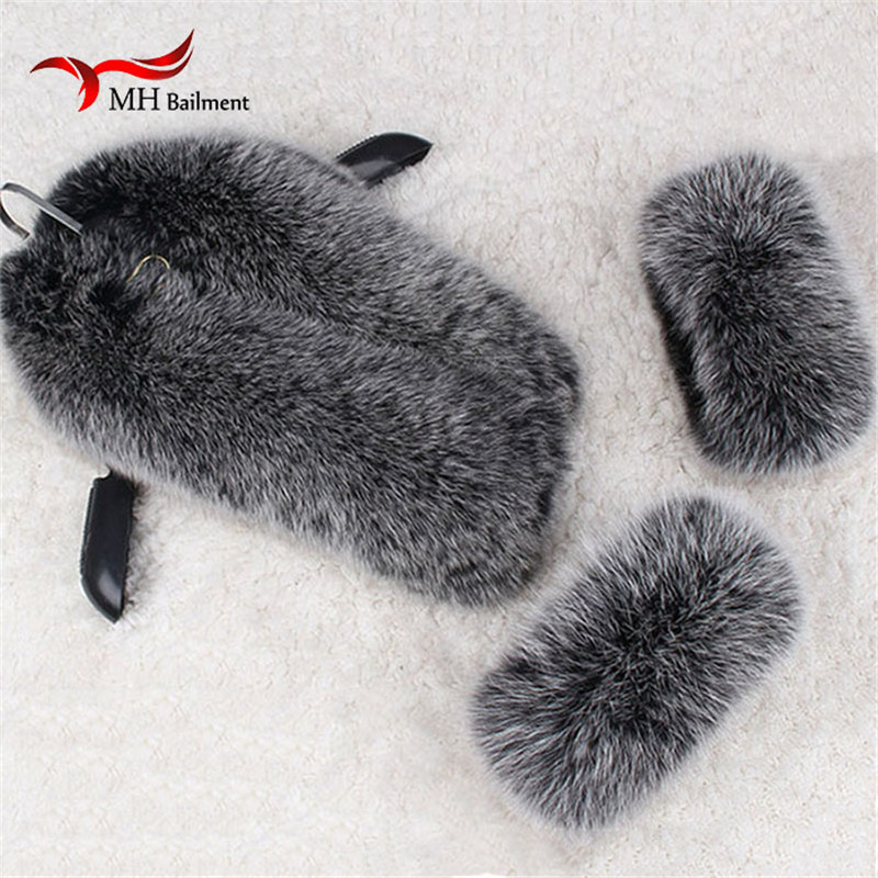 Fox Fur Collar Natural Fox Fox Fur Scarf Jacket Collar Woman Sleeve Warm Coat Fur Collar And Sleeves Penghantaran Percuma Fur Scarf