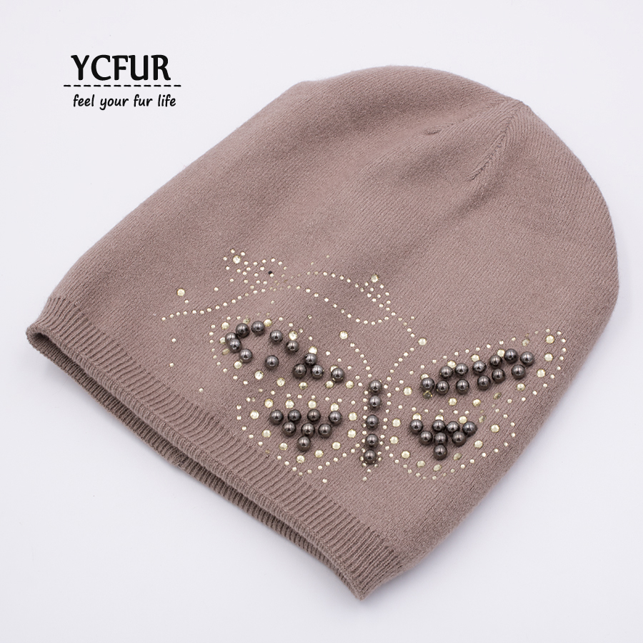 YCFUR Fashion Women Hats Caps Autumn Winter Balaclava Female Knit Wool Beanies Hats For Lady Skullies Hat Cap Girls 2017 new fashion autumn and winter wool leaves hollow out knitting hat thick female cap hats for girls women s hats female cap
