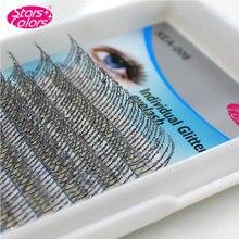 High Quality 0.15mm 3D Individual Silver Glitter Eyelash Extension Shiny False Eyelashes Synthetic Lashes Makeup Tool
