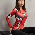 Железный Человек MK46 3D Печатные Футболки Женщины Капитан Америка Сжатия Рубашка С Длинным Рукавом Женский Косплей Костюмы Для Леди