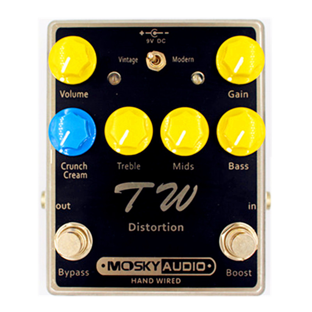 Moskyaudio TW DISTORTION Guitar Effect Pedal Mini Overdrive Effect Pedal With Three Band EQ Guitar Parts & Accessories