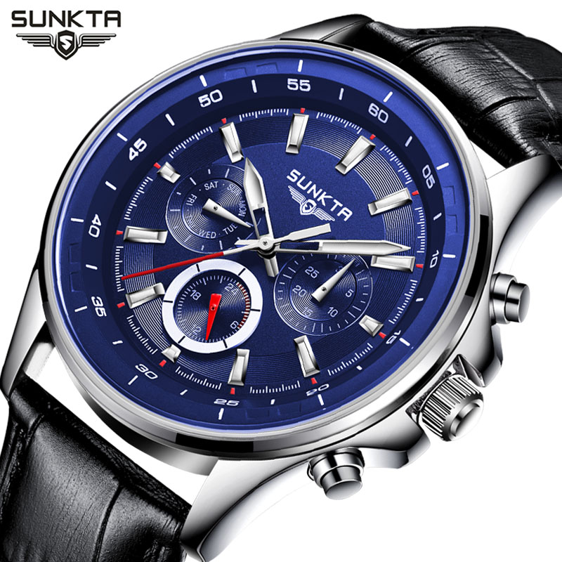 SUNKTA Watch Men Business Waterproof Mens Watches Top Brand Luxury Fashion Casual Sport Quartz Wristwatch Relogio Masculino relogio masculino chronograph mens watches top brand sinobi luxury fashion business quartz watch man sport waterproof wristwatch