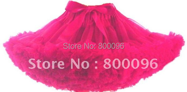 Wholesale layered tutu hot pink fashion 5pieces/lot girls skirt  PETS-020