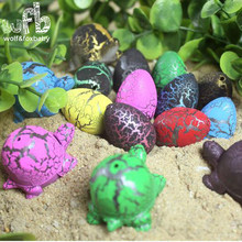 6 шт./упак. 6 красочные трещины яйцо черепахи вылупления Расширения воды пузырь новизны игрушки детям подарки kid toy 2015 hotsale