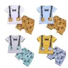 2018 Fashion Kid Clothes Set Solid Pocket Decoration T-shirt