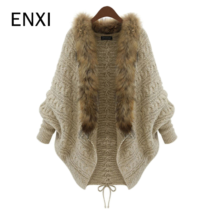 ENXI Autumn Winter Maternity Women Long Sleeve Coat Soft And Warm Knitted For Pregnant Women Fur Collar ENXI Autumn Winter Maternity Women Long Sleeve Coat Soft And Warm Knitted For Pregnant Women Fur Collar