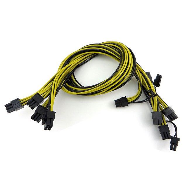 10 Teile/los Freies Verschiffen UL1007 16AWG PCI E 6Pin auf 8Pin (6 ...