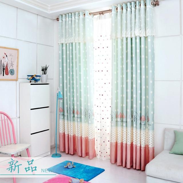 rose princesse fentre rideau pour chambre denfants noir dot rideaux blanc panneaux bleu de
