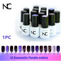 Vernis Semi Permanent Gel Nail Polish 14 Purple Mirror Nail Polish for the Gel UV Varnish 5ml Lucky Gel Unha de Gel French