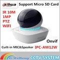 DAHUA original English version ip camera IPC-AW12W 1Mp Mini Network Wifi Camera built-in MIC Support SD Card ptz camera